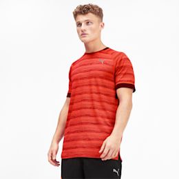 Get Fast THERMO R+ Men's Running Tee, Nrgy Red Htr-Rhubarb Htr, small-IND