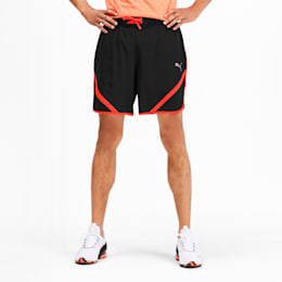 """Get Fast 7"""" Woven Men's Running Shorts, Puma Black-Nrgy Red, small"""