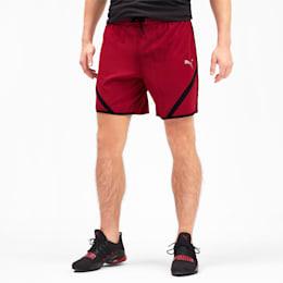 """Calções de corrida em tecido Get Fast 7"""" para homem, Rhubarb-Puma Black, small"""