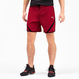 "Get Fast 7"" Woven Men's Running Shorts, Rhubarb-Puma Black, small"
