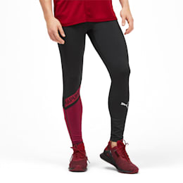 GetFast Thermo-R+ Men's Running Tights, Puma Black-Rhubarb, small