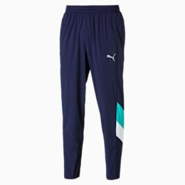 Reactive Men's Packable Pants, Peacoat-Turquoise-White, small
