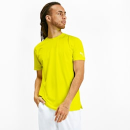 Reflective Tech Men's Training Tee, Yellow Alert, small