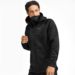 Rave Protect Hooded Men's Training Jacket, Puma Black, small-IND