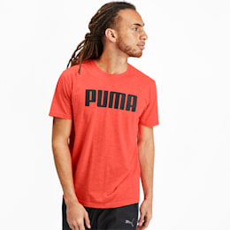 PUMA Men's Graphic Tee, Nrgy Red Heather, small