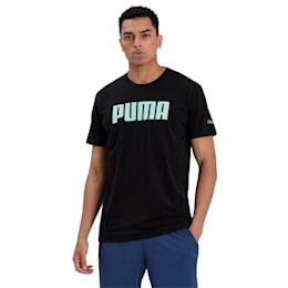 Graphic Short Sleeve Men's Tee, Puma Black, small-IND