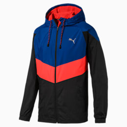 Reactive Men's Woven Jacket, Galaxy Blue-Black-Nrgy Red, small