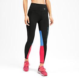 Feel It 7/8 Women's Training Leggings, Nrgy Rose-Blue Glimmer, small