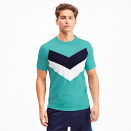 Reactive Men's Colorblock Tee, Blue Turquoise, small