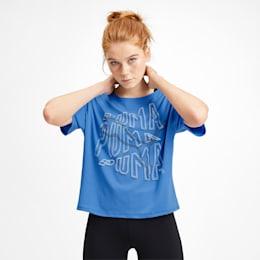 フィール イット SS ウィメンズ トレーニング Tシャツ 半袖, Blue Glimmer, small-JPN