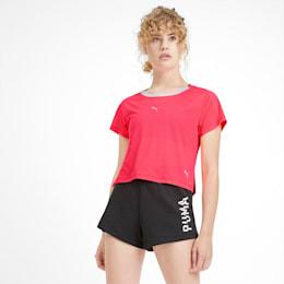 BE BOLD ロゴグラフィック SS ウィメンズ トレーニング Tシャツ 半袖, Pink Alert, small-JPN