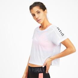 BE BOLD ロゴグラフィック SS ウィメンズ トレーニング Tシャツ 半袖, Puma White, small-JPN
