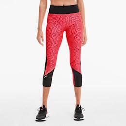 Last Lap Graphic Women's 3/4 Leggings, Ignite Pink-Puma Black, small