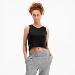 Studio Crop Lace tanktop voor dames, Puma Black, small