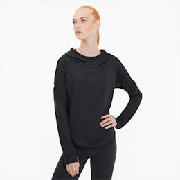 Studio Lace Damen Training Hoodie, Puma Black, small