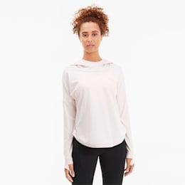 Damska treningowa bluza z kapturem Studio Lace, Rosewater, small