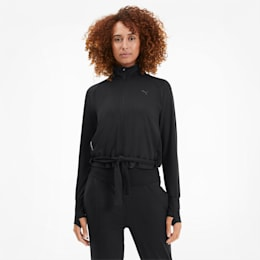 Studio Adjustable Knitted-træningsjakke til kvinder, Puma Black, small