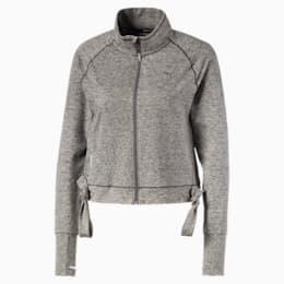 Giacca da allenamento a maglia da donna regolabile Studio, Medium Gray Heather, small