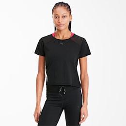 Be Bold Mesh Women's Training Tee, Puma Black, small-SEA