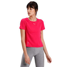 Be Bold Mesh Tee, BRIGHT ROSE, small-IND