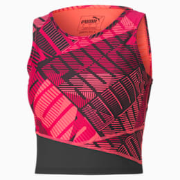 Top Crop Be Bold Training pour femme, BRIGHT ROSE-Print, small