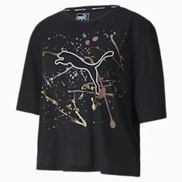 Metal Splash Graphic-trænings-T-shirt til kvinder
