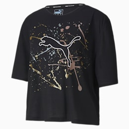 T-shirt desportiva Metal Splash Graphic para mulher
