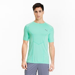 Reactive evoKNIT Herren Training T-Shirt, Green Glimmer, small