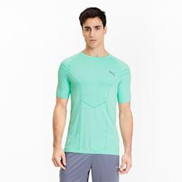 Reactive evoKNIT-trænings-T-shirt til mænd, Green Glimmer, small
