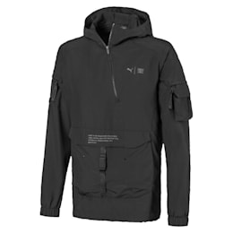First Mile Utility Jacket, Puma Black, small-IND