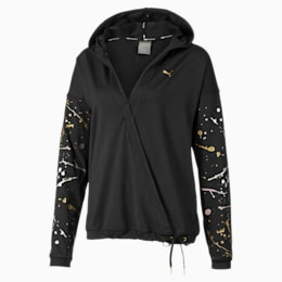Metal Splash Lux Wrap Women's Hoodie, Puma Black, small