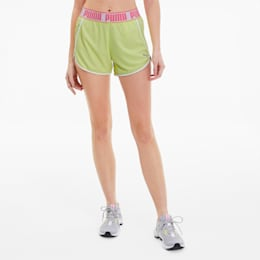 Last Lap Knitted Women's Running Shorts, Sunny Lime, small