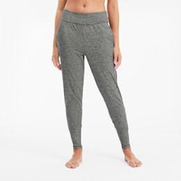 Damskie spodnie treningowe Studio Tapered, Medium Gray Heather, small