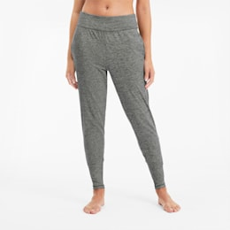 Pantalones de entrenamiento para mujer Studio Tapered, Medium Gray Heather, small