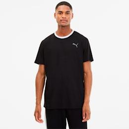 Camiseta para entrenamientoReactive para hombre, de colores combinados, Negro-CASTLEROCK-Blanco, pequeño