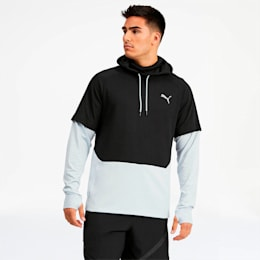 Extract Protect Men's Hoodie, Puma Black-Grey Dawn, small