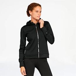 After Glow Women's Full Zip Hoodie, Puma Black, small