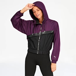 After Glow Women's Statement Jacket, Plum Purple-Puma Black, small
