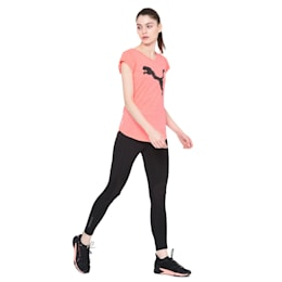 Heather Cat V-neck Women's Training Tee, Pink Alert, small-IND