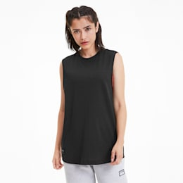 PUMA x ADRIANA LIMA Loose Fit Women's Tank Top, Puma Black, small-SEA