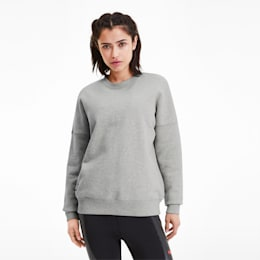 PUMA x ADRIANA LIMA Crew Women's Sweater, Light Gray Heather, small