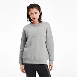 PUMA x ADRIANA LIMA-sweater med rund hals til kvinder, Light Gray Heather, small