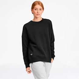 AL x PUMA Women's Crewneck Sweatshirt, Puma Black, small