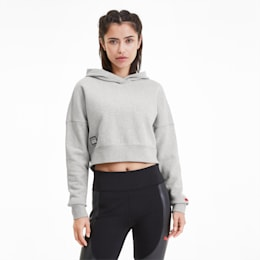 PUMA x ADRIANA LIMA Women's Hoodie, Light Gray Heather, small-SEA