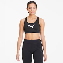 4Keeps Damen Sport-BH, Puma Black-Puma White Cat, small