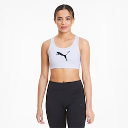 Reggiseno sportivo da donna 4Keeps, Puma White-Puma Black Cat, small