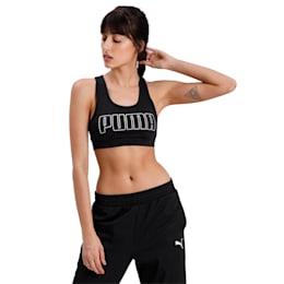 4Keeps Women's Training Bra, Puma Black-White/Silver PUMA, small-IND