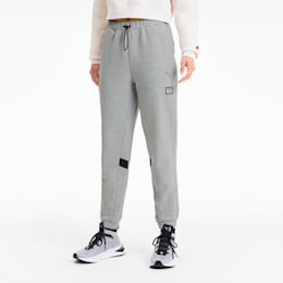 PUMA x ADRIANA LIMA Knitted Women's Sweatpants, Light Gray Heather, small-IND