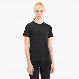 Studio Mixed kanten training-T-shirt voor dames, Puma Black, small