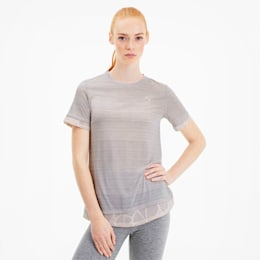 Studio Mixed kanten training-T-shirt voor dames, Rosewater, small